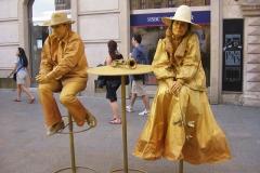 Artyści uliczni - zwiedzanie Krakowa