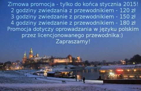 zwiedzanie Krakowa zimą