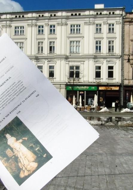Formularz gry miejskiej i Pałac Krzysztofory
