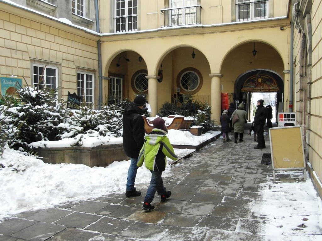 Pałac pod Baranami Kraków, dziedziniec